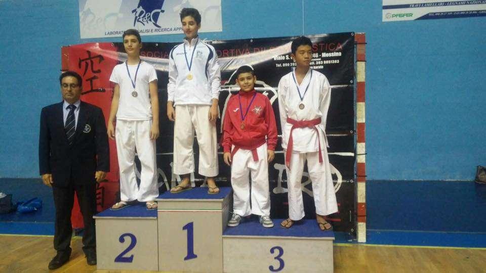 Karate, Gabriele Pluchino entra di diritto al campionato italiano esordienti di Roma