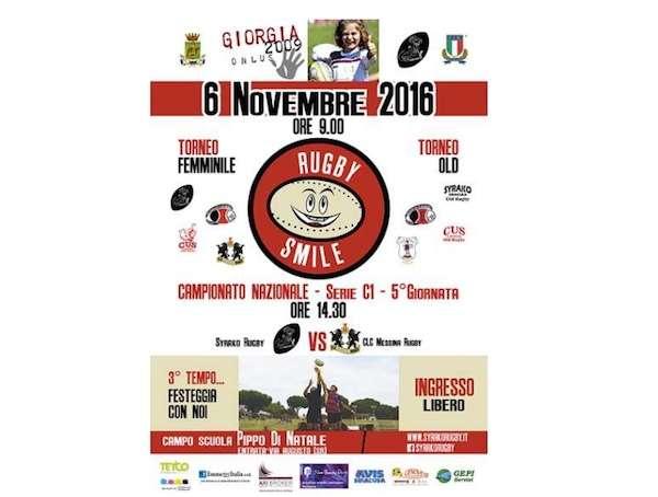 """Rugby, domenica 6 novembre al campo scuola """"P. Di Natale"""" la manifestazione """"Rugby Smile"""""""