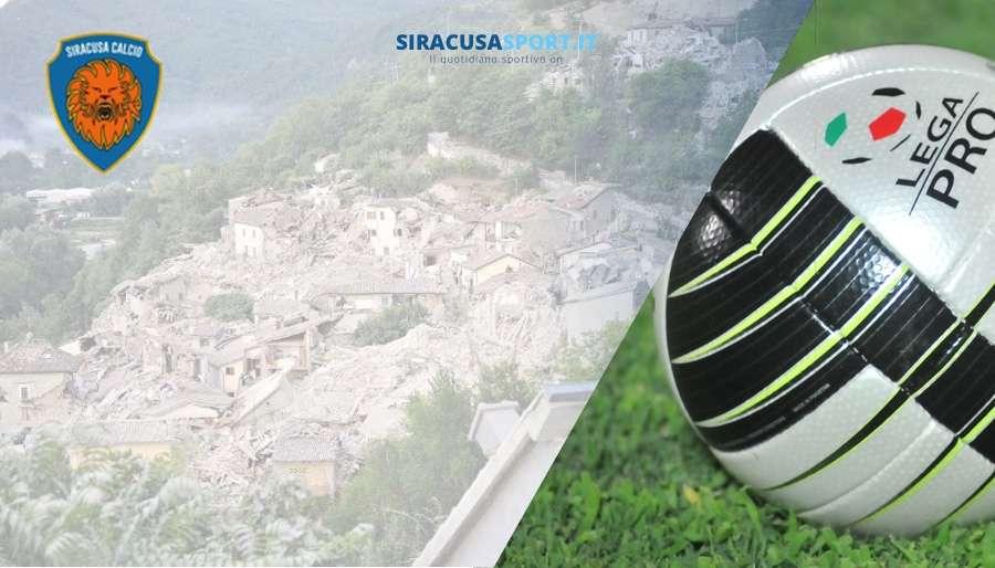 Calcio Beneficenza, durante Siracusa – Akragas sarà avviata una raccolta fondi per i terremotati in Umbria