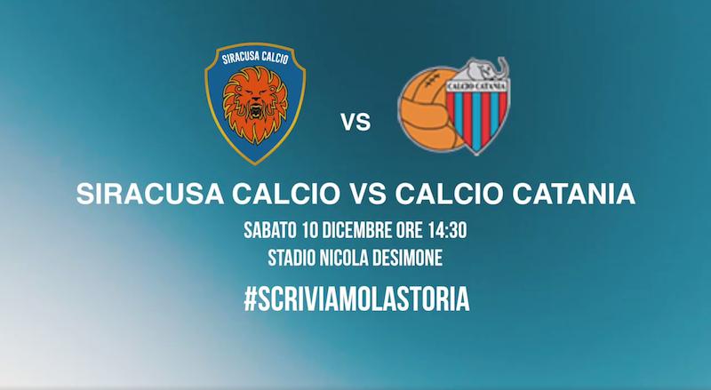Calcio, è già febbre da derby Siracusa-Catania, guarda il video ufficiale