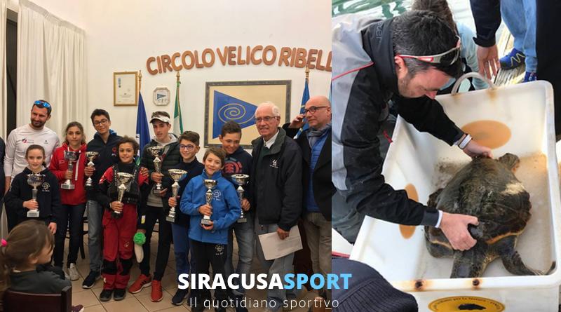 """Vela, conclusa la Coppa Aico Sicilia 2017: 84 i partecipanti. L'istruttore Stefanelli porta in salvo una tartaruga """"caretta caretta"""""""
