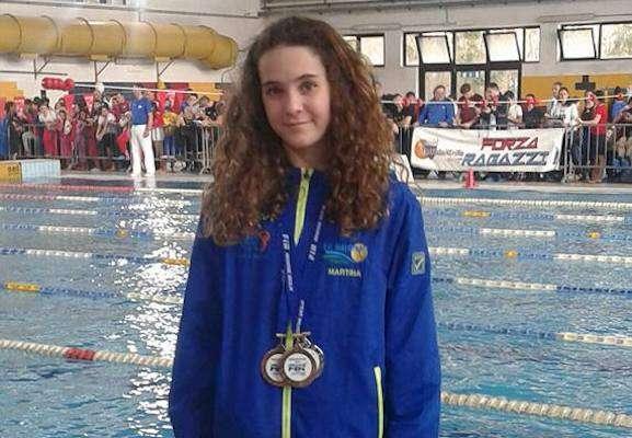 Nuoto, ancora ottimi risultati per il Tc Match Ball: Martina Moscuzza conquista i campionati regionali esordienti