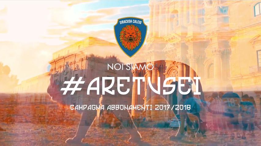 """VIDEO, Siracusa Calcio: """"Noi siamo Aretusei"""" è il titolo del promo della nuova stagione calcistica"""