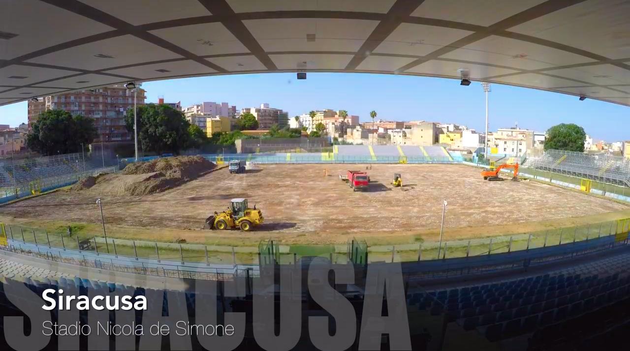 Stadio Nicola De Simone, il video mozzafiato con l'evoluzione del nuovo manto erboso