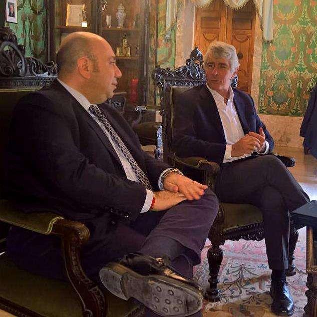 Siracusa Il presidente del Credito Sportivo, Abodi, in visita alla Cittadella dello Sport con il sindaco Garozzo